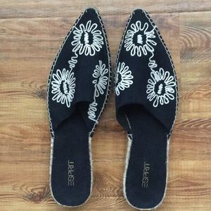 Esprit Brand New Pointed Embroidery Mules 10